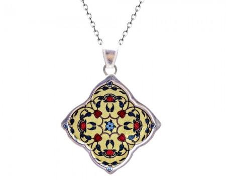 Tesbihane - 925 Ayar Gümüş Osmanlı Figürü Kolye