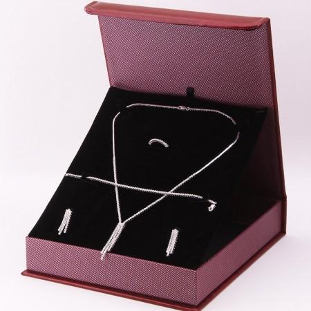 Tesbihane - 925 Ayar Gümüş Özel Hediye Kutulu Zirkon Taşlı Set (Model-2)