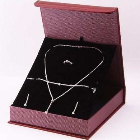 Tesbihane - 925 Ayar Gümüş Özel Hediye Kutulu Zirkon Taşlı Set (Model-3)
