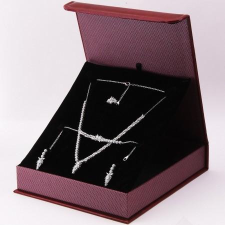 Tesbihane - 925 Ayar Gümüş Özel Hediye Kutulu Zirkon Taşlı Set (Model-7)