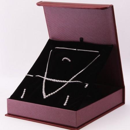 Tesbihane - 925 Ayar Gümüş Özel Hediye Kutulu Zirkon Taşlı Set (Model-8)