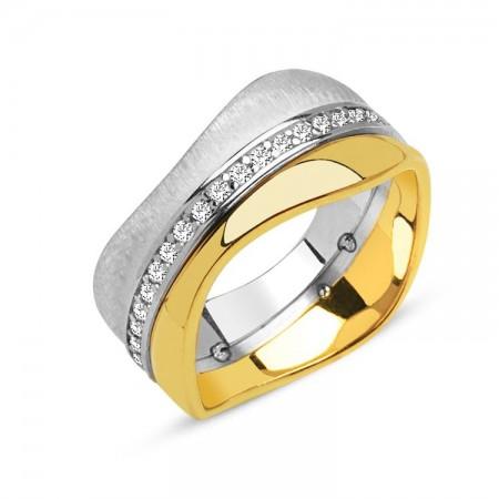 Tesbihane - 925 Ayar Gümüş Özel Tasarım Bayan Alyans