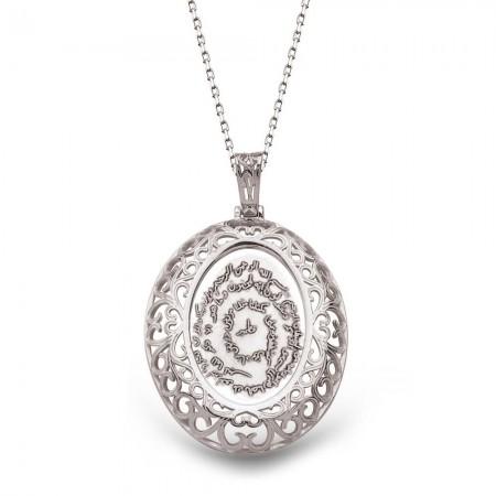 Tesbihane - 925 Ayar Gümüş Özel Tasarım Kıtmir Kolye