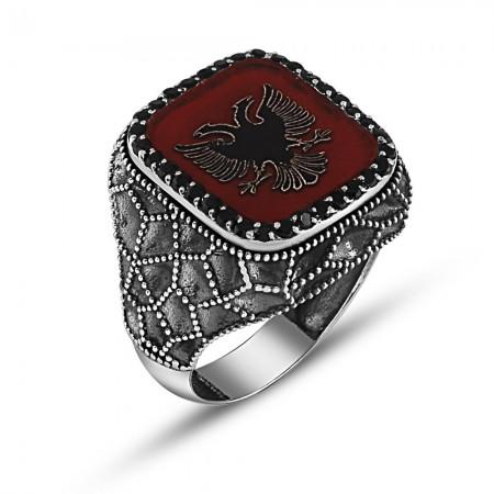 Tesbihane - 925 Ayar Gümüş Özel Tasarım Selçuk Kartal Yüzük
