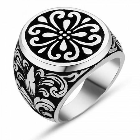 Tesbihane - 925 Ayar Gümüş Özel Tasarım Yüzük