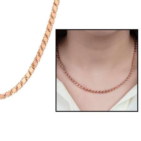 Tesbihane - 925 Ayar Gümüş Pullu Bayan Zincir Kolye