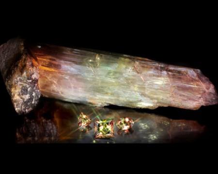 925 Ayar Gümüş Püsküllü Fasetalı Küre Kesim Sultanit Tesbih (M-1) - Thumbnail