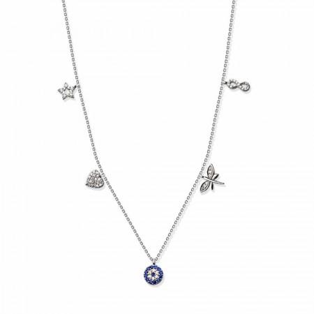 Tesbihane - 925 Ayar Gümüş Şans Kolye (SDR0018)
