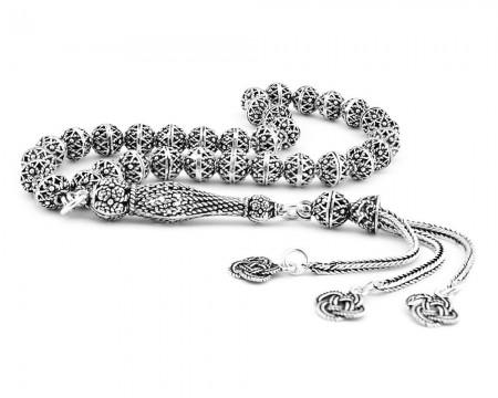 - 925 Ayar Gümüş Sarmal Model Tesbih