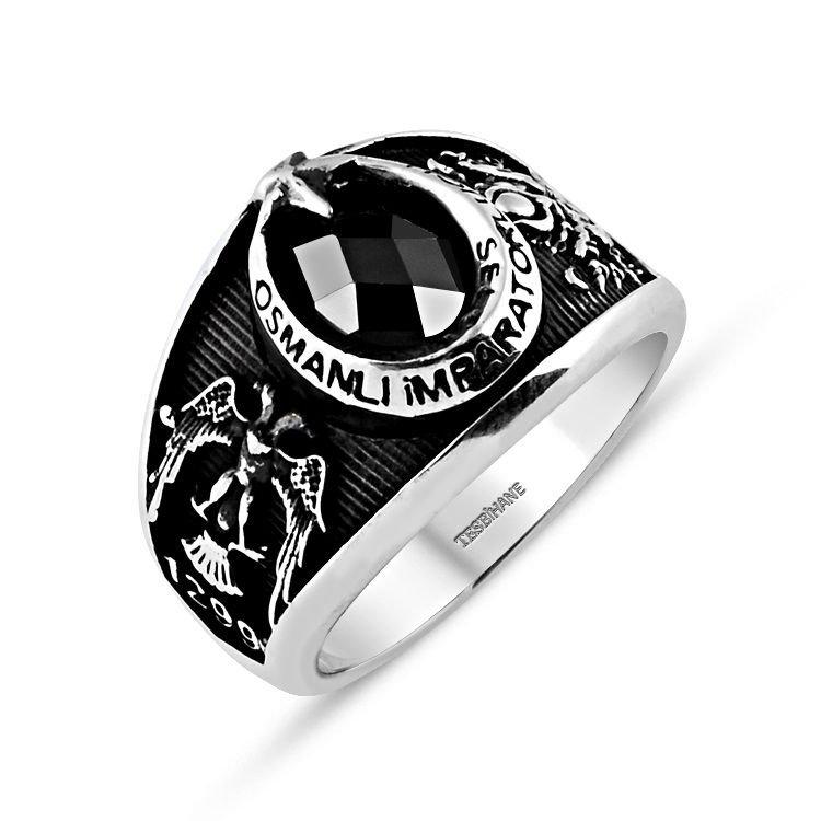 925 Ayar Gümüş Selçuklu Kartallı Armalı İmparator Yüzüğü