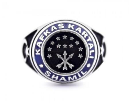 Tesbihane - 925 Ayar Gümüş Şeyh Şamil Kafkas Kartal Yüzüğü