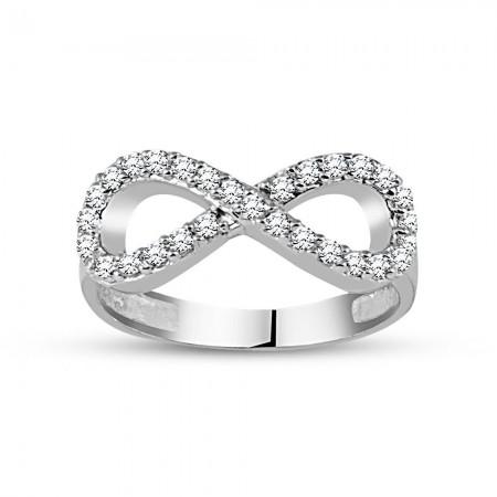 - 925 Ayar Gümüş Sonsuz Aşk Yüzük