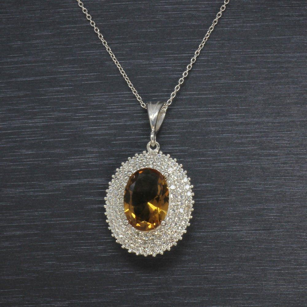 Sultanit Taşlı 925 Ayar Gümüş Bayan Kolye (Model-6)