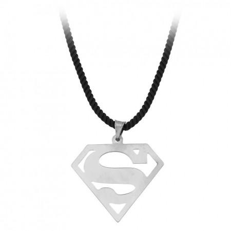 Tesbihane - Supermen Tasarım 925 Ayar Gümüş Erkek Kolye