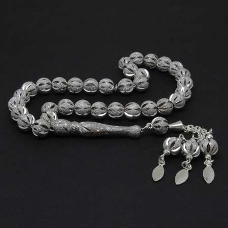 Tesbihane - 925 Ayar Gümüş İthal Gümüş Tesbih