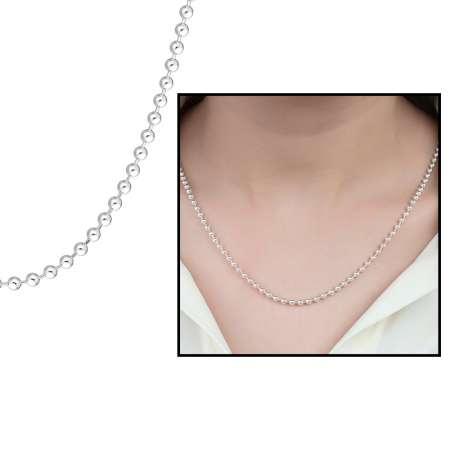 Tesbihane - 925 Ayar Gümüş Toplu Bayan Zincir Kolye