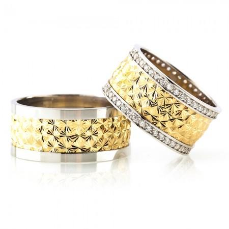 - Kutup Yıldızı Tasarım 925 Ayar Gümüş Çift Alyans