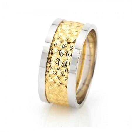 - Kutup Yıldızı Tasarım 925 Ayar Gümüş Erkek Alyans