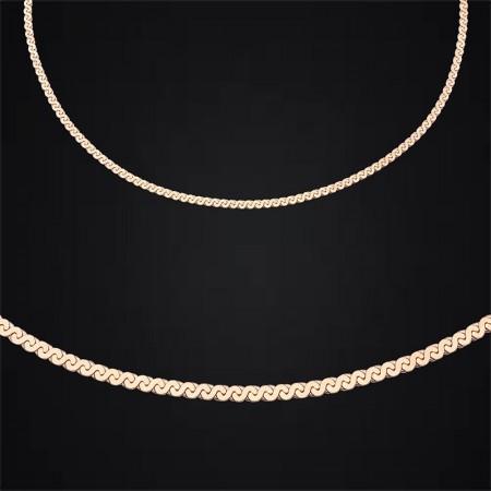 925 Ayar Gümüş Sampentin Zincir Erkek Kolye - Thumbnail