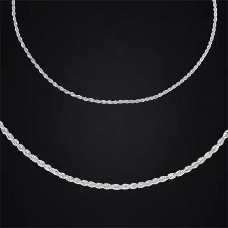 Tesbihane - 925 Ayar Gümüş Zincir (Model-6)