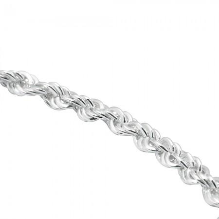 925 Ayar Gümüş Yerli Burma Zincir Erkek Kolye - Thumbnail