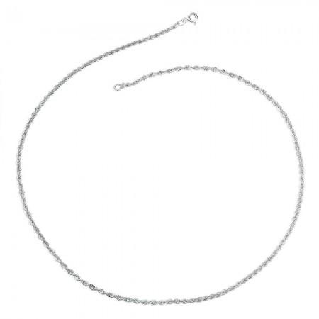 925 Ayar Gümüş Yerli Burma Bayan Zincir Kolye - Thumbnail