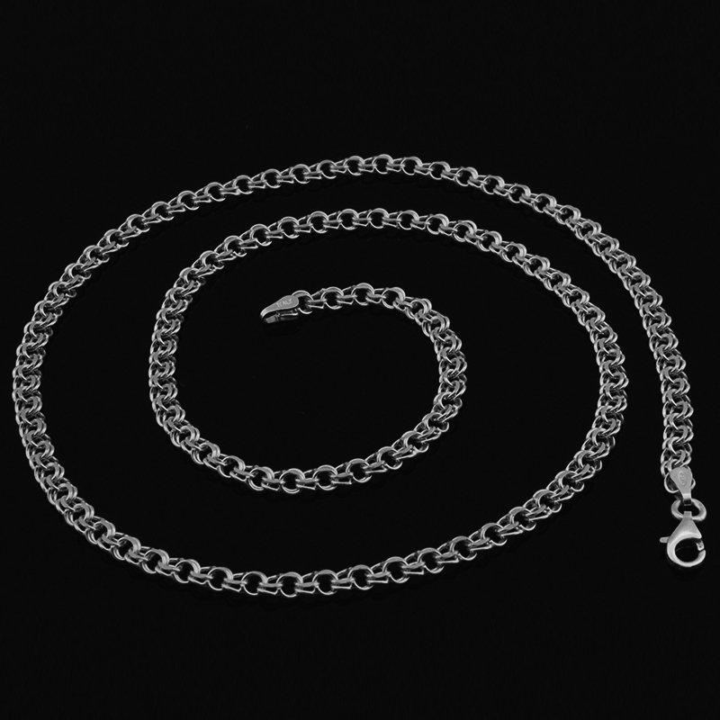 925 Ayar Gümüş Garibaldi Zincir Erkek Kolye (M-2)