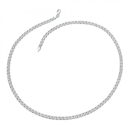 925 Ayar Gümüş Garibaldi Zincir Erkek Kolye (M-2) - Thumbnail
