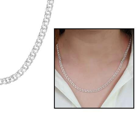 Tesbihane - 925 Ayar Gümüş Garibaldi Bayan Zincir Kolye (M-2)