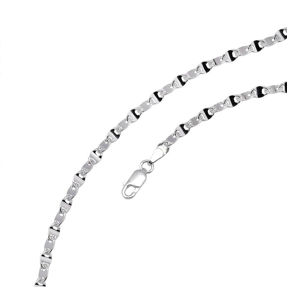 925 Ayar Gümüş Baskılı Forsa Zincir Erkek Kolye