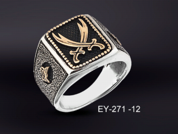 - 925 Ayar Gümüş Zülfikar Yüzük