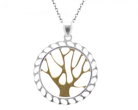 Tesbihane - 925 Gümüş Hayat Ağacı Kolye-2