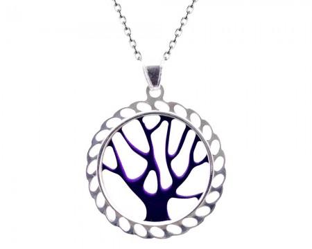 Tesbihane - 925 Gümüş Hayat Ağacı Kolye