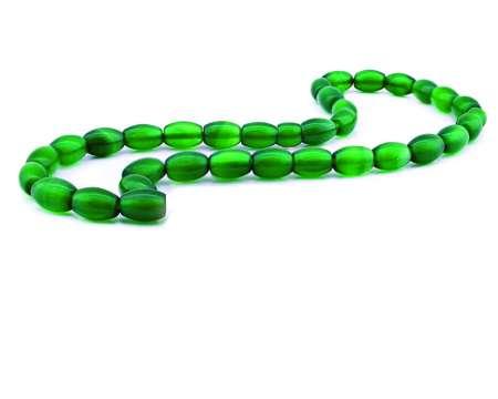 Tesbihane - Akik Yeşil Arpa Kesim 9*6 mm