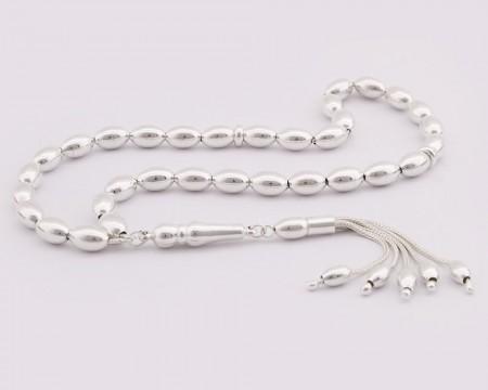- Arpa Kesim 925 Ayar Gümüş Tesbih (Model-3)