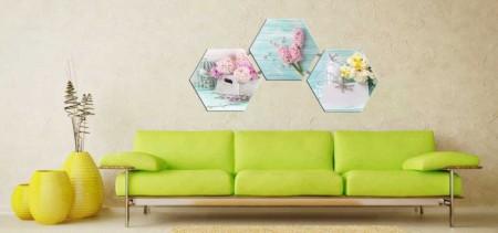 Tesbihane - Çiçek Temalı Kanvas Tablo (Model-2)