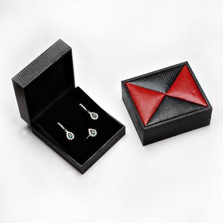 Tesbihane - Kırmızı-Siyah Renk Deri Set Kutusu