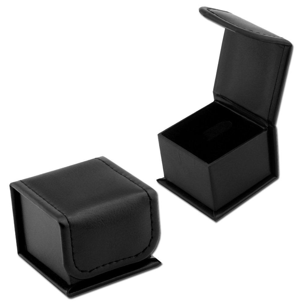 Siyah Renk Deri Yüzük Kutusu