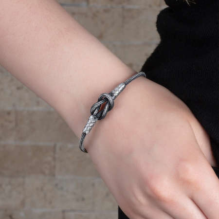 Tesbihane - El İşçiliği Düğüm Tasarım 1000 Ayar Kazaz Bayan Bileklik
