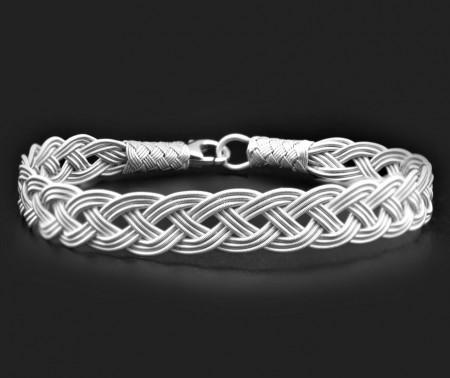 Tesbihane - El İşçiliği Gümüş Renk 1000 Ayar Kazaz Bileklik