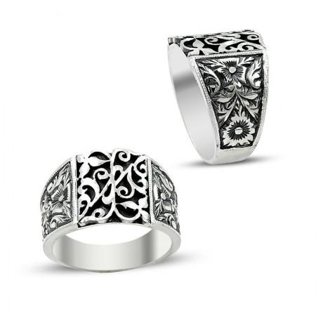 Tesbihane - Erzurum El İşi 925 Ayar Gümüş Yüzük