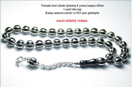 - Erzurum Oltusu 8 yarma Karpuz Dilimli Tesbih