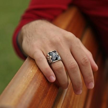 - Fetih 1453 - Fatih Yüzüğü (Siyah Taşlı)