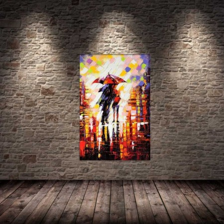 Tesbihane - Gece Yağmur Kanvas Tablo