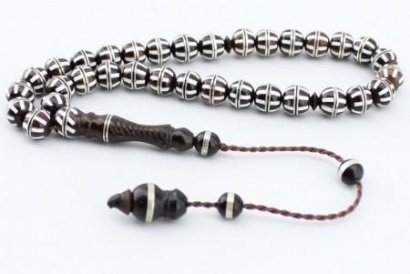 Gümüş Sarmallı ve Özel İşlemeli Kuka Tesbih - Thumbnail