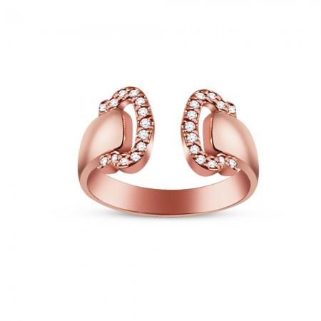 Tesbihane - Gümüş Zirkon Taşlı Eklem Yüzüğü