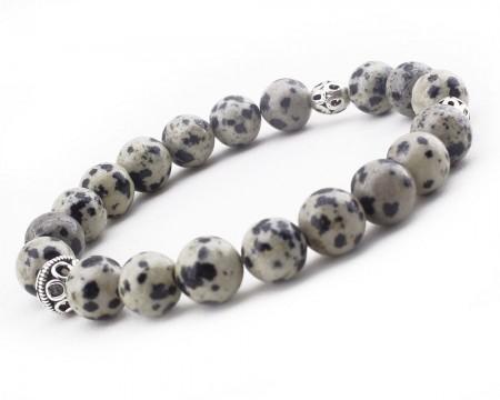 - 925 Ayar Gümüş Kombinli Fasetalı Kesim Hareli Jasper Doğaltaş Bileklik