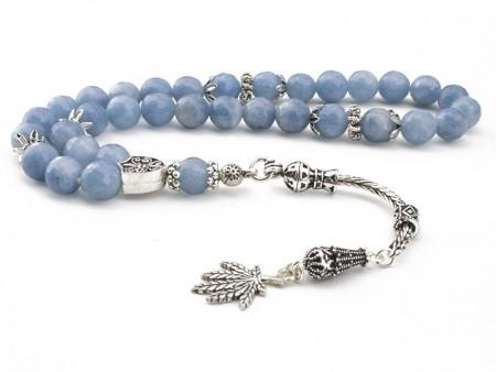 - Gümüşlü Mavi Kuvars Fasetalı Kesim Tesbih (ZNXDKJN)
