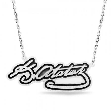 - Kişiye Özel İmza Tasarım 925 Ayar Gümüş Kolye