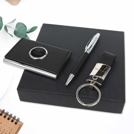 - İsme Özel Anahtarlık Kalem Kartvizitlik Seti